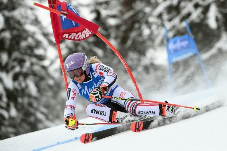 France's Tessa Worley won her first race in two years in the giant slalom at Kronplatz