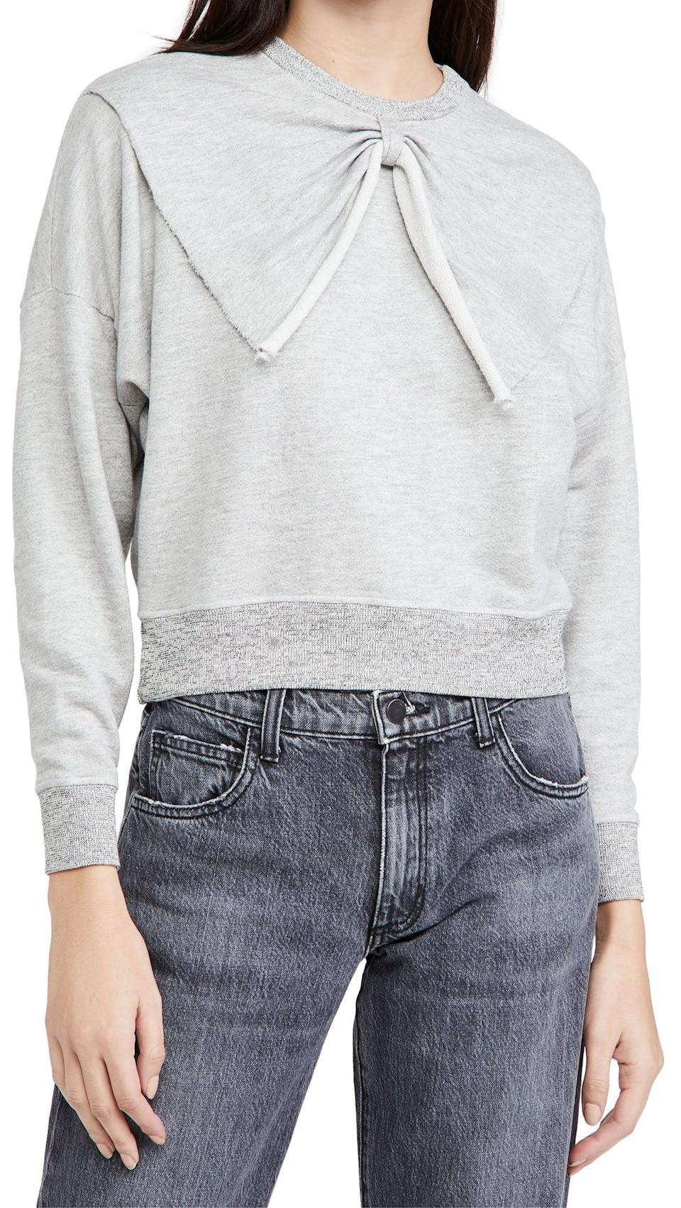 <p>This <span>The Great. The Bow Sweatshirt</span> ($195) is statement-making.</p>