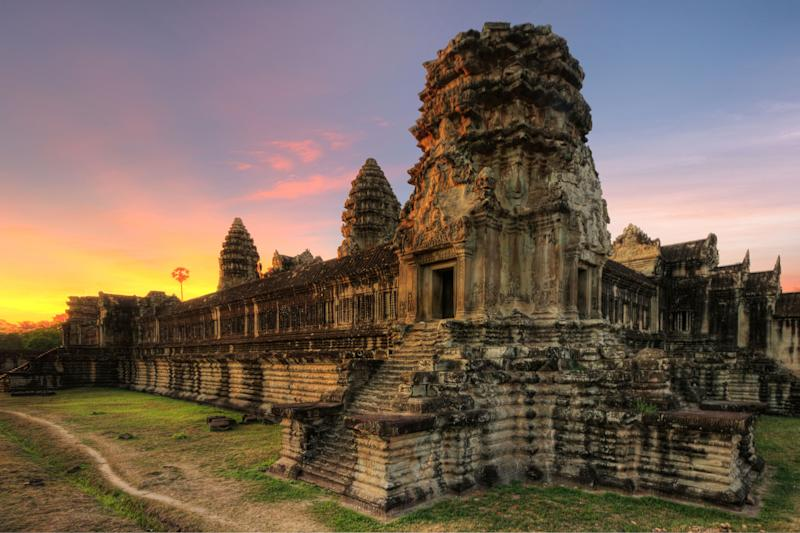 "<a href=""http://whc.unesco.org/en/list/668"" target=""_blank"">Angkor Wat</a> is the <a href=""http://www.guinnessworldrecords.com/world-records/largest-religious-structure/"" target=""_blank"">largest religious site in the world</a>, expanding across 162.6 hectares of land. What is now the Angkor Archaeological Park once served as the center of the Khmer Empire, a dominating force in Southeast Asia from the 9th to the 15th century. The inhabited park is intimately connected to nature, and part of its land remains a forest."