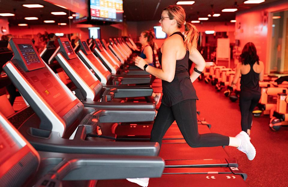 Orangetheory Fitness Reopens With New Measures Amid Pandemic (Elijah Nouvelage / Bloomberg via Getty Images)