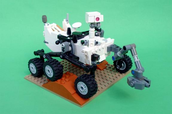 Mechanical engineer Stephen Pakbaz's LEGO version of NASA's Mars Science Laboratory rover, Curiosity — now with step-by-step instructions.