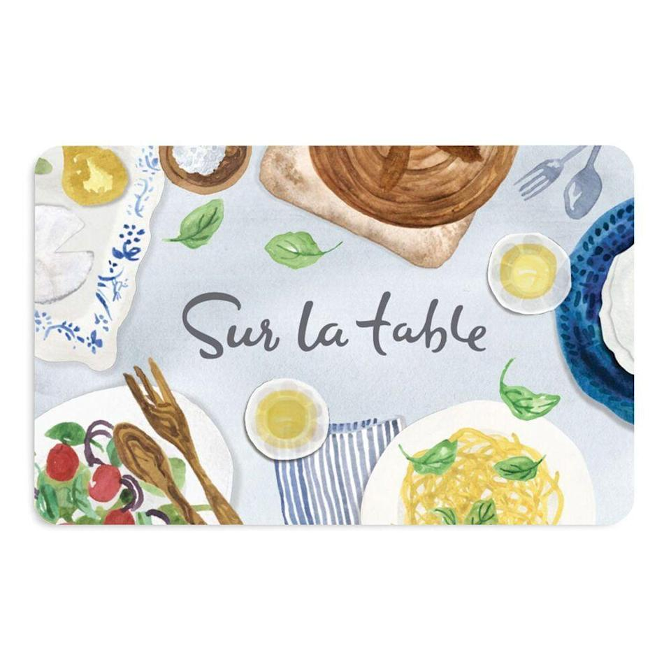 """<p><strong>Sur la Table </strong></p><p><strong>$250.00</strong></p><p><a href=""""https://go.redirectingat.com?id=74968X1596630&url=https%3A%2F%2Fwww.surlatable.com%2Felectronic-gift-card%2FGCP-15271.html%3Fdwvar_GCP-15271_gcDesign%3Ddesign4&sref=https%3A%2F%2Fwww.harpersbazaar.com%2Fwedding%2Fplanning%2Fg36435226%2Flast-minute-wedding-gift-ideas%2F"""" rel=""""nofollow noopener"""" target=""""_blank"""" data-ylk=""""slk:SHOP NOW"""" class=""""link rapid-noclick-resp"""">SHOP NOW</a></p><p>Treat the soon-to-be married <a href=""""https://www.harpersbazaar.com/culture/travel-dining/g8143/best-food-gifts/"""" rel=""""nofollow noopener"""" target=""""_blank"""" data-ylk=""""slk:foodie"""" class=""""link rapid-noclick-resp"""">foodie</a> couple with a date night you know they'll love. This gift card works for in-person or Zoom cooking lessons for pairs who love to experiment in the kitchen together.</p>"""