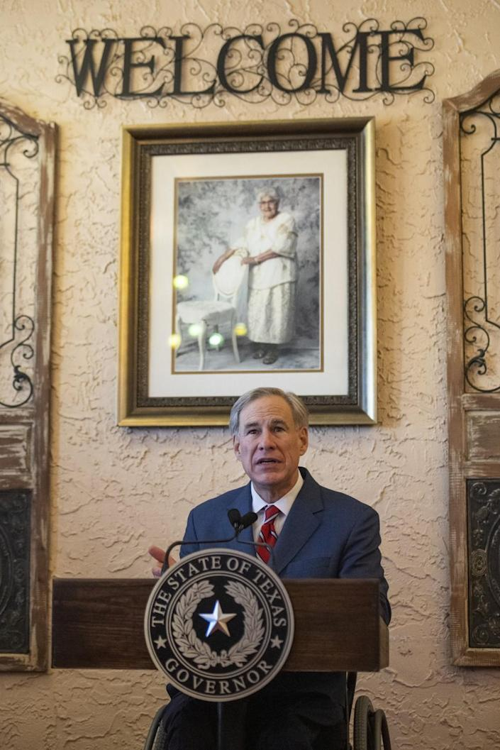 Texas Gov. Greg Abbott announces that he's ending the state's mask mandate.