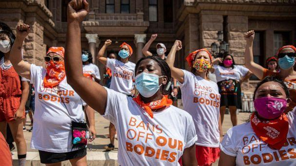 PHOTO: A Bans Off Our Bodies protest at the Texas State Capitol in Austin, Texas, Sept. 1, 2021. (Montinique Monroe/The New York Times/Redux)