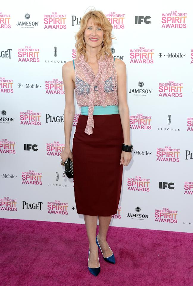 SANTA MONICA, CA - FEBRUARY 23:  Actress Laura Dern attends the 2013 Film Independent Spirit Awards at Santa Monica Beach on February 23, 2013 in Santa Monica, California.  (Photo by Jason Merritt/Getty Images)