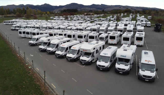 New Zealand citizens returning from overseas could be isolated in campervans on a military base near Auckland. (Getty)