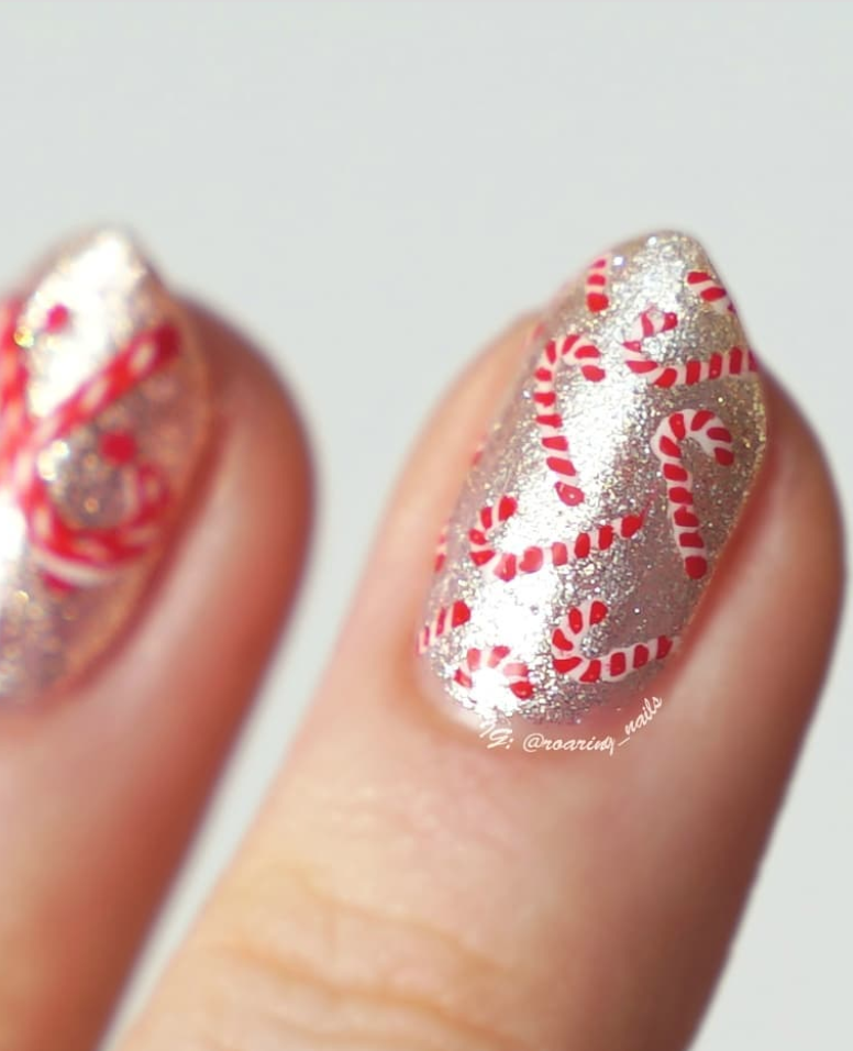 "<p>Candy canes are a holiday essential, so why not incorporate them into your Christmas manicure, as <a href=""https://www.instagram.com/roaring_nails/"" rel=""nofollow noopener"" target=""_blank"" data-ylk=""slk:Belgium-based nail artist Robin"" class=""link rapid-noclick-resp"">Belgium-based nail artist Robin</a> demonstrates here. Don't worry if hand-painting isn't your thing, there are tools for that.</p><p><a class=""link rapid-noclick-resp"" href=""https://go.redirectingat.com?id=74968X1596630&url=https%3A%2F%2Fwww.etsy.com%2Flisting%2F255962375%2Fcandy-canes-stencils-for-nails-christmas&sref=https%3A%2F%2Fwww.oprahmag.com%2Fbeauty%2Fg34113691%2Fchristmas-nail-ideas%2F"" rel=""nofollow noopener"" target=""_blank"" data-ylk=""slk:SHOP CANDY CANE STENCIL"">SHOP CANDY CANE STENCIL</a></p>"
