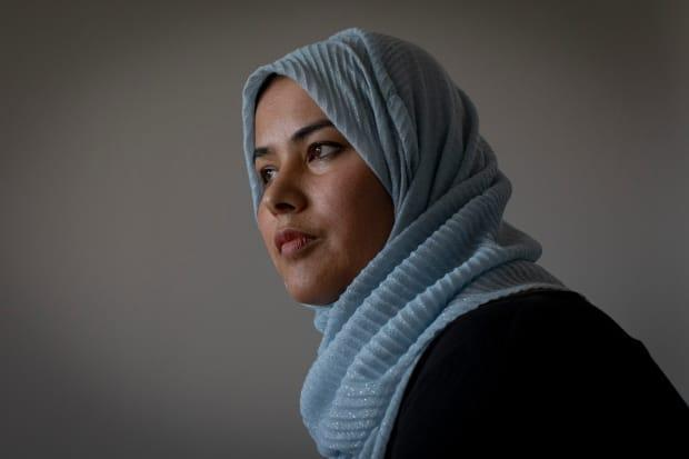 Halima Bahman, an advocate for Hazara women, is pictured at her home outside Toronto. (Evan Mitsui/CBC - image credit)