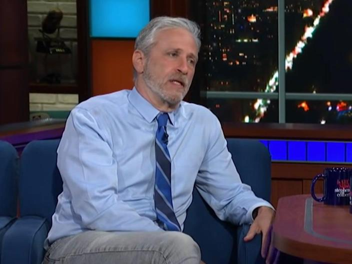 Jon Stewart on The Late Show with Stephen Colbert (YouTube/The Late Show with Stephen Colbert)