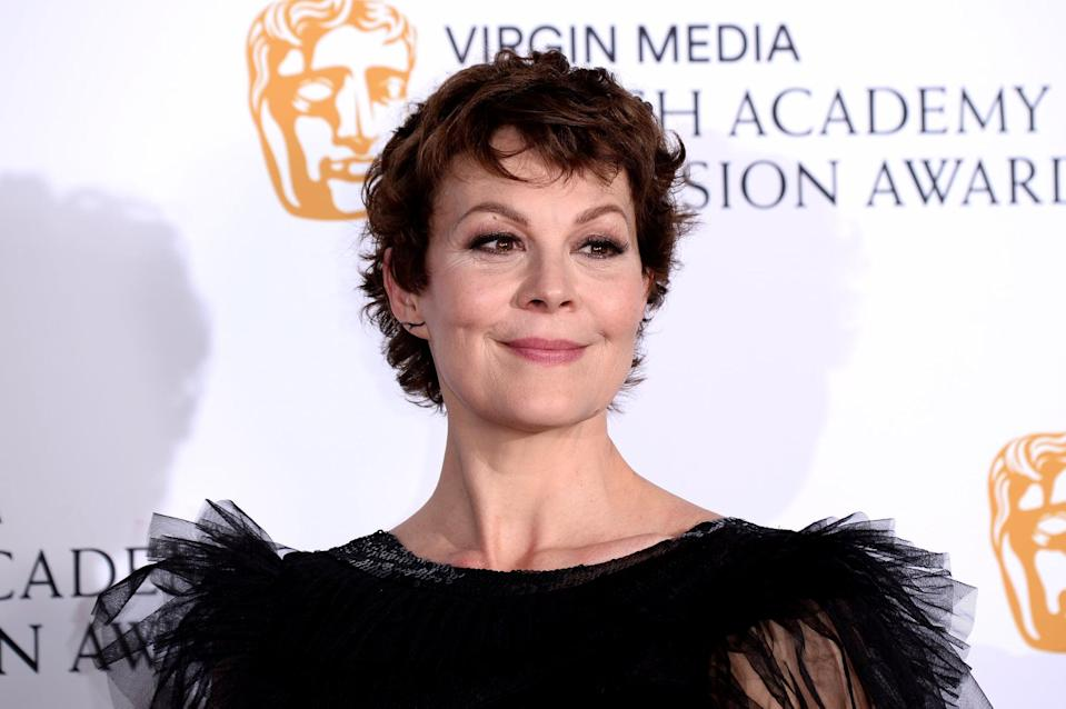 LONDON, ENGLAND - MAY 12: Helen McCrory poses in the Press Room at the Virgin TV BAFTA Television Award at The Royal Festival Hall on May 12, 2019 in London, England. (Photo by Jeff Spicer/Getty Images)