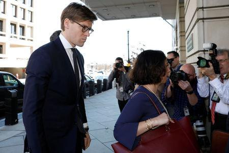 Alex van der Zwaan arrives at a plea agreement hearing at the D.C. federal courthouse in Washington, U.S., February 20, 2018. REUTERS/Yuri Gripas