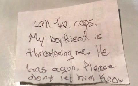 The note given to the vet - Volusia Co. Sheriff Office