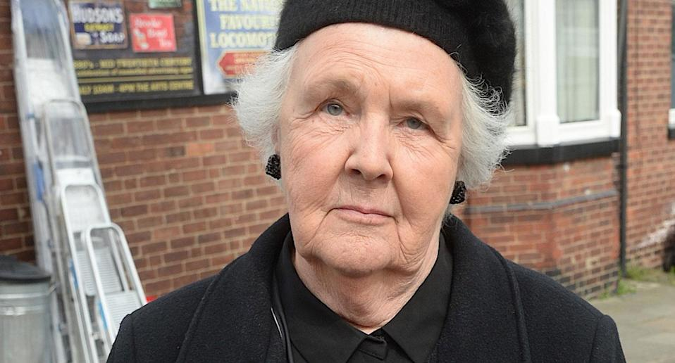 Stephanie Cole as Mrs. Featherstone in <i>Still Open All Hours</i> (BBC Studios/David Moffitt)