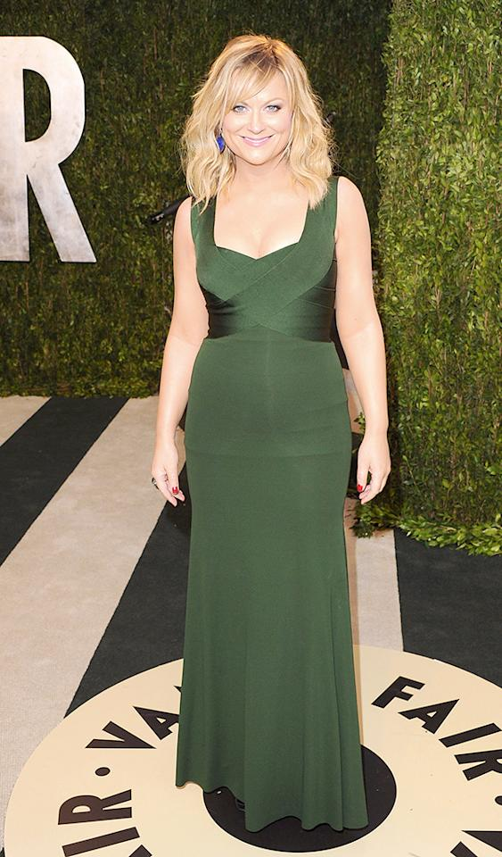WEST HOLLYWOOD, CA - FEBRUARY 24:  Actress Amy Poehler attends the 2013 Vanity Fair Oscar party at Sunset Tower on February 24, 2013 in West Hollywood, California.  (Photo by Jon Kopaloff/FilmMagic)
