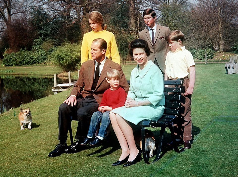 The royal family on the grounds of Frogmore House in 1968.