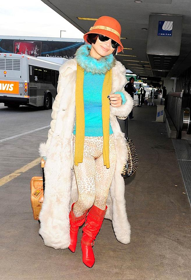 """Last but not least ... D-list actress Bai Ling, who looked like a hot mess from head to toe in yet another one of her trademark train wrecks. Jun Sato/<a href=""""http://www.wireimage.com"""" target=""""new"""">WireImage.com</a> - January 29, 2010"""