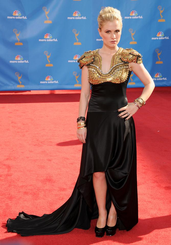 LOS ANGELES, CA - AUGUST 29: Anna Paquin attends the 62nd Primetime Emmy Awards at Nokia Theatre L.A. Live on August 29, 2010 in Los Angeles, California.  (Photo by Gregg DeGuire/FilmMagic)