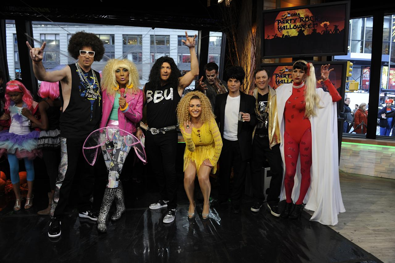"The anchors got in the Halloween spirit, dressing up as music superstars from our ""Good Morning America"" concert series."