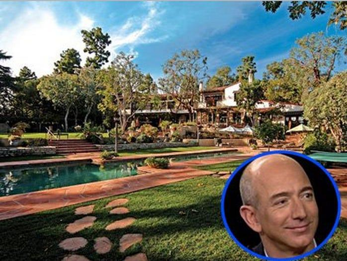 Bezos' house in Beverly Hills.