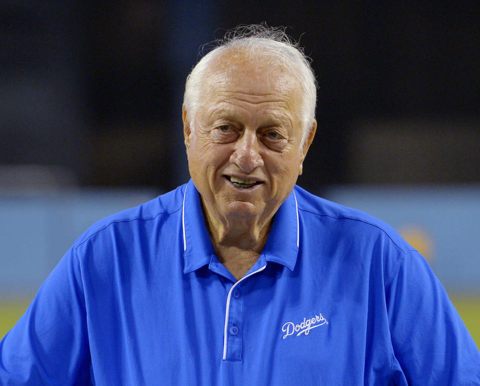 Former manager Tommy Lasorda is still as passionate as ever about the Dodgers. (AP)