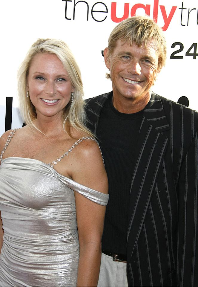 "<a href=""http://movies.yahoo.com/movie/contributor/1800033092"">Christopher Atkins</a> and guest at the Los Angeles premiere of <a href=""http://movies.yahoo.com/movie/1810021980/info"">The Ugly Truth</a> - 07/16/2009"