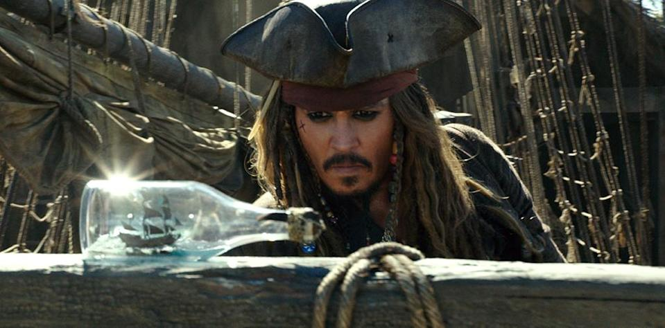<p>Johnny Depp as Captain Jack Sparrow in 'Pirates of the Caribbean: Dead Men Tell No Tales' (Photo: Disney)<br> </p>  <p>The Way We Were</p><p> Javier Bardem as Captain Salazar in a flashback scene from 'Pirates of the Caribbean: Dead Men Tell No Tales' (Photo: Disney) </p>  <p>The Walking Dread</p><p> The undead Captain Salazar (Javier Bardem) in 'Pirates of the Caribbean: Dead Men Tell No Tales' (Photo: Disney) </p>  <p>Back In Ship Shape</p><p> Javier Bardem as the living Captain Salazar in 'Pirates of the Caribbean: Dead Men Tell No Tales' (Photo: Disney)<br> </p>  <p>Message in a Bottle?</p><p> An image from 'Pirates of the Caribbean: Dead Men Tell No Tales' (Photo: Disney)<br><br><br> </p>  <p>Heat Wave</p><p> A spooky Javier Bardem as Captain Salazar in 'Pirates of the Caribbean: Dead Men Tell No Tales' (Photo: Disney)<br><br> </p>  <p>Sweet Bird of Youth</p><p> Captain Jack Sparrow (Johnny Depp) in a flashback scene, made young with the help of CGI in 'Pirates of the Caribbean: Dead Men Tell No Tales' (Photo: Disney)<br><br><br> </p>  <p>Cool vs. Ghoul</p><p> Geoffrey Rush as Barbossa (left) faces off with Javier Bardem as Captain Salazar in 'Pirates of the Caribbean: Dead Men Tell No Tales' (Photo: Disney)<br><br> </p>  <p>Keep Your Eye on the Sparrow</p><p> Johnny Depp as Captain Jack Sparrow in 'Pirates of the Caribbean: Dead Men Tell No Tales' (Photo: Disney)<br><br> </p>  <p>The New Recruit</p><p> Brenton Thwaites plays Henry, a young sailor, in 'Pirates of the Caribbean: Dead Men Tell No Tales' (Photo: Disney)<br><br> </p>