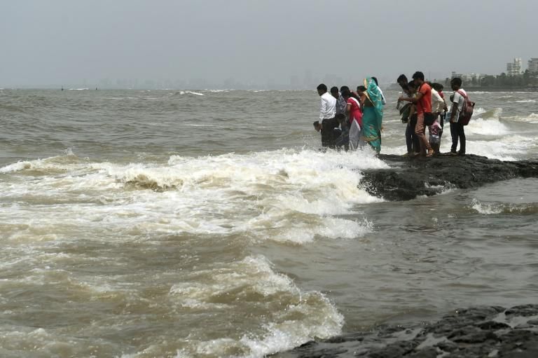 Offshore reefs and beach restoration plans are being considered to help Mumbai (AFP Photo/PUNIT PARANJPE)