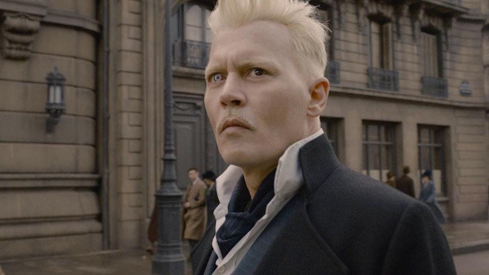 Johnny Depp in 'Fantastic Beasts: The Crimes of Grindelwald'. (Credit: Warner Bros)