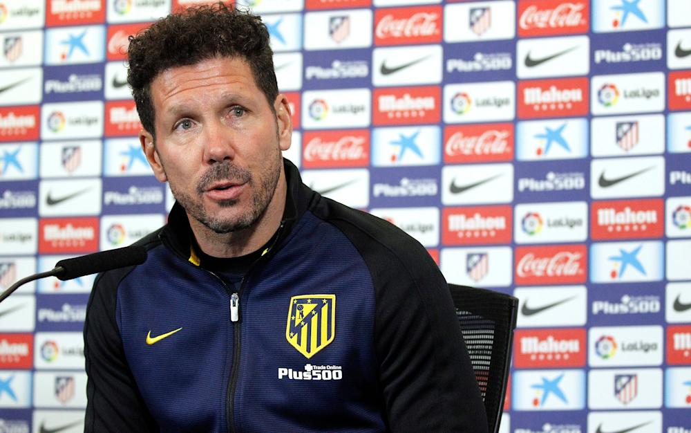 Simeone -Leicester City handed stern Atletico Madrid test in Champions League quarter-finals - Credit: EPA