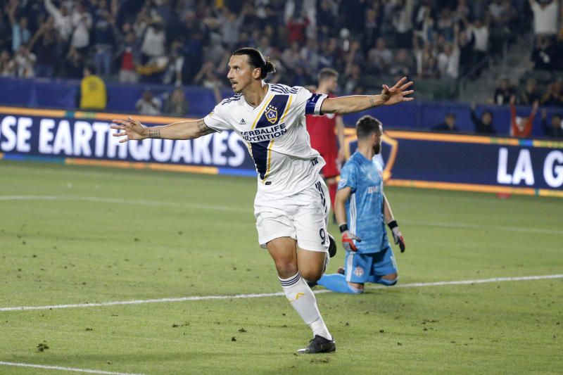 LA Galaxy forward Zlatan Ibrahimovic.