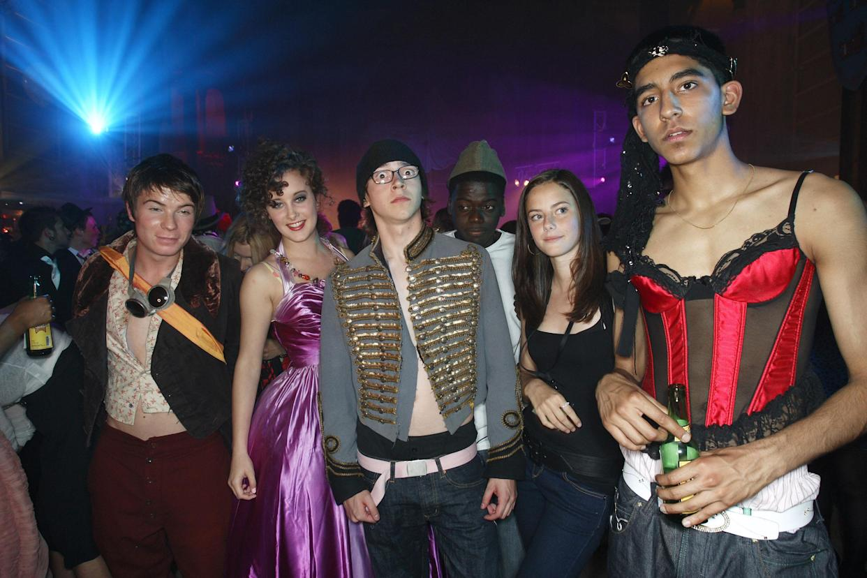 BRISTOL, UNITED KINGDOM - AUGUST 02:   Joseph Dempsie, April Pearson, Mike Bailey, Kaya Scodelario and Dev Patel attend the Channel 4/ E4 party for a one-off Skins special on August 2, 2007 in Bristol (Gloucestershire), England.  (Photo by Mike Marsland/WireImage)