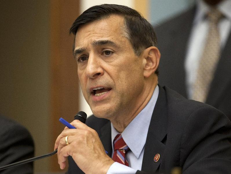 FILE - In this May 15, 2013 file photo, House Oversight Committee Chairman Rep. Darrell Issa, R-Calif. speaks on Capitol Hill in Washington. Issa has issued a subpoena to compel the co-chairman of the independent review board that investigated last year's attack on the U.S. diplomatic mission in Benghazi, Libya to answer questions about its findings in closed session. Issa issued the subpoena on Friday to retired veteran diplomat Thomas Pickering to force him to appear at a deposition next Thursday. (AP Photo/Carolyn Kaster, File)