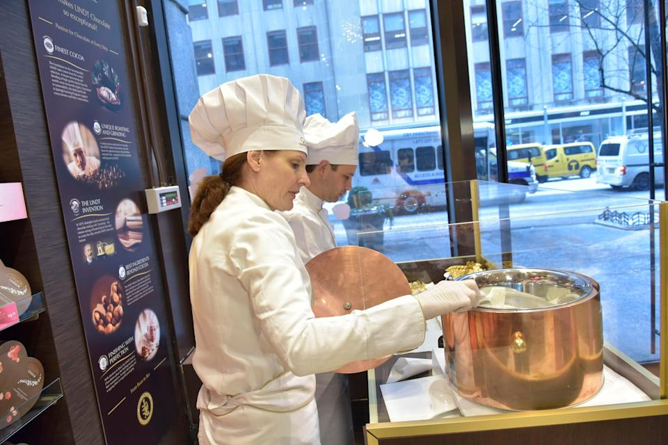 "<h1 class=""title"">Ann-Czaja-at-work-making-truffles.jpg</h1> <div class=""caption""> Czaja working with chocolate at a Lindt demonstration </div> <cite class=""credit"">Lindt/Ann Czaja</cite>"