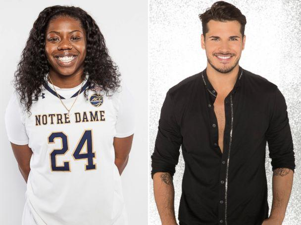 PHOTO: NCAA champ Arike Ogunbowale, the women's college basketball star at the University of Notre Dame, will dance with pro Gleb Savchenko. (The University of Notre Dame | Craig Sjodin/ABC)