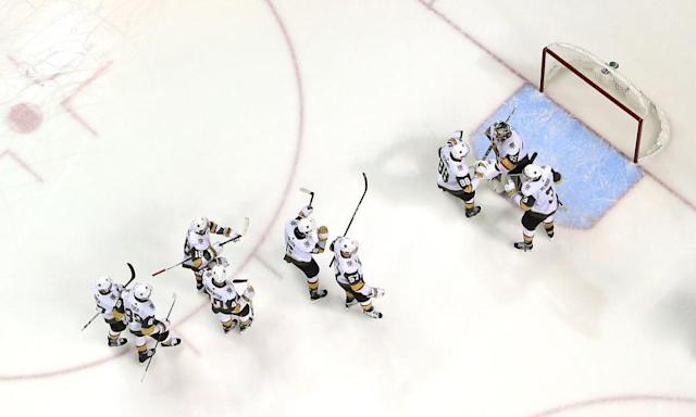 """<span class=""""element-image__caption"""">The <a class=""""link rapid-noclick-resp"""" href=""""/nhl/teams/vgk"""" data-ylk=""""slk:Vegas Golden Knights"""">Vegas Golden Knights</a> are one round away from the Stanley Cup final in their first year of existence.</span> <span class=""""element-image__credit"""">Photograph: Ezra Shaw/Getty Images</span>"""