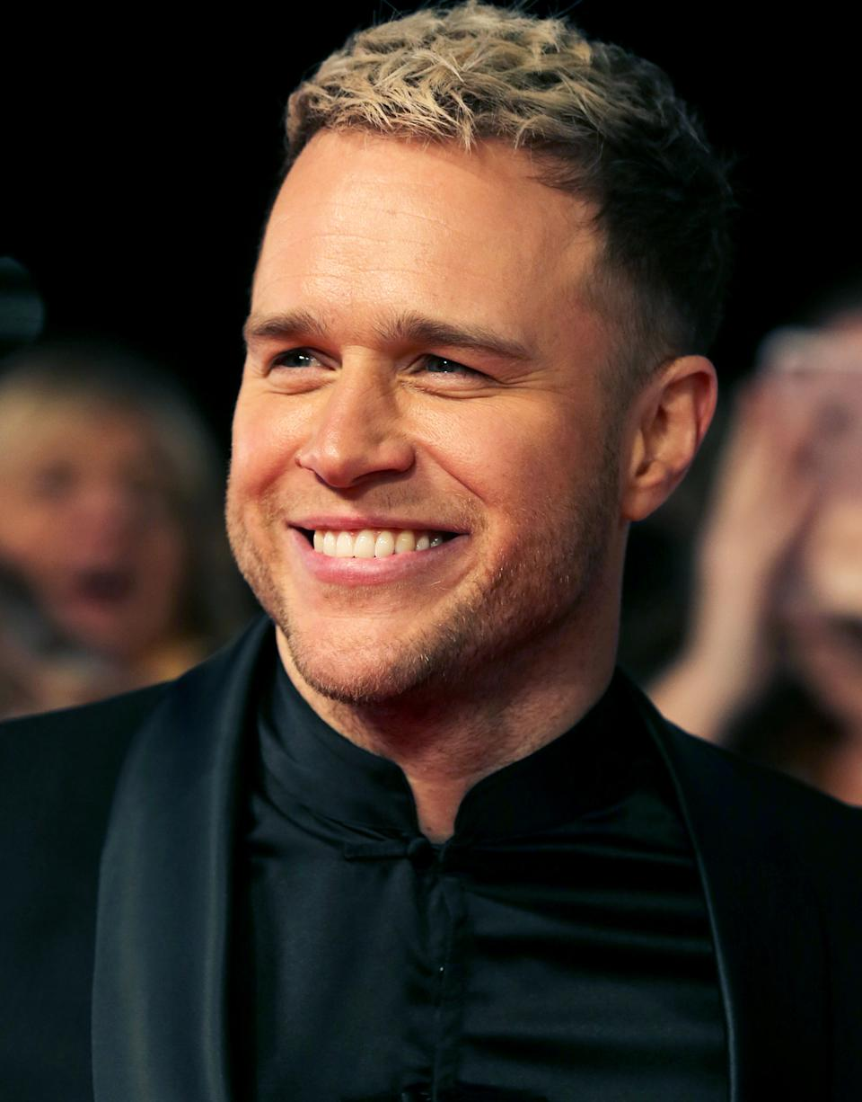 Olly Murs attending the National Television Awards 2020 held at the O2 Arena, London.