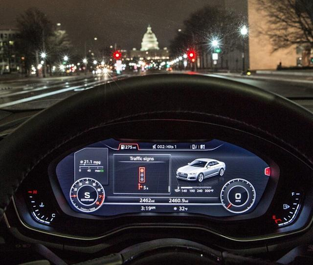 The Audi Traffic Light Information system will tell you when a light is about to turn red or stay green. (image: Audi)