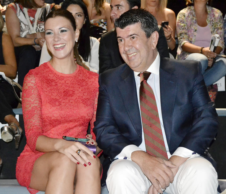 MADRID, SPAIN - SEPTEMBER 13:  Maria Jesus Ruiz and Jose Maria Gil Silgado attend a fashion show during the Mercedes Benz Fashion Week Madrid Spring/Summer 2014 on September 13, 2013 in Madrid, Spain.  (Photo by Europa Press/Europa Press via Getty Images)