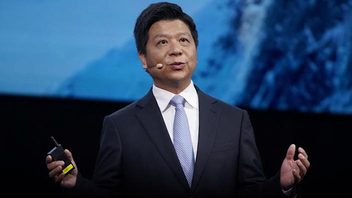 Guo Ping laid out the problems Huawei faced, at its annual conference