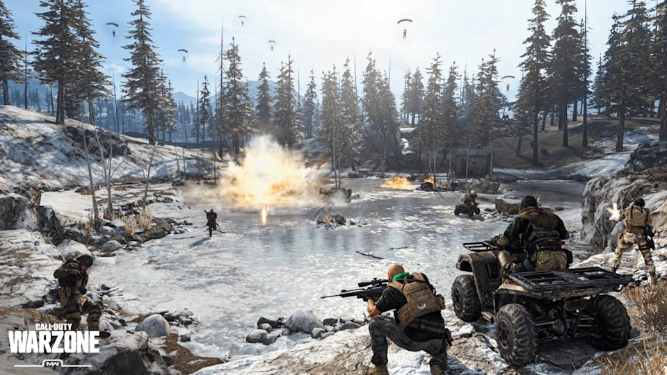 Drop into a 150-player free-for-all with 'Call of Duty: Warzone.' I've been playing this almost every night to stay in touch with my friends, and, my god, it's fun. (Image: Activision Blizzard)