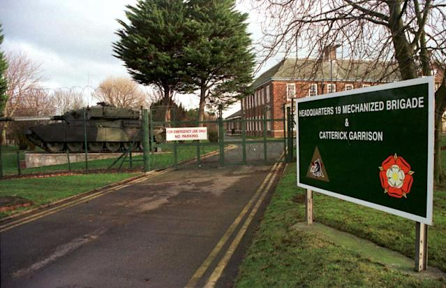 Lance Corporal Bernard Mongan was found dead at Catterick Garrison, North Yorkshire. (PA)