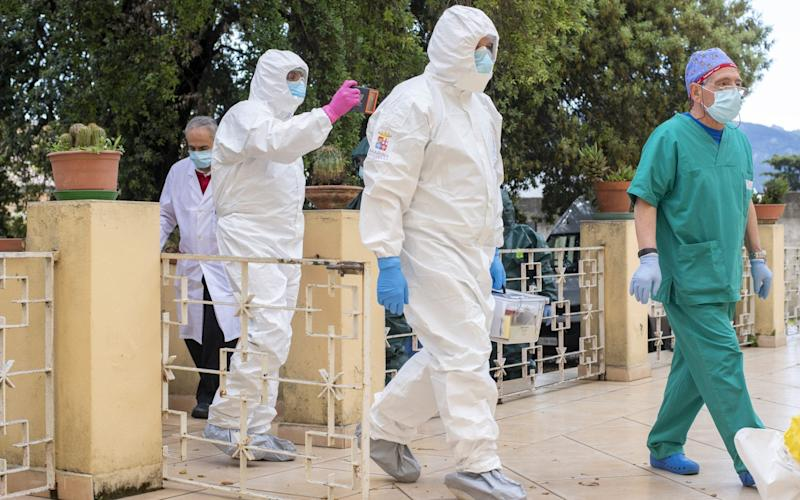 Italian Army And Navy Swabs At Nursing Home In Sardinia - Getty Images Europe