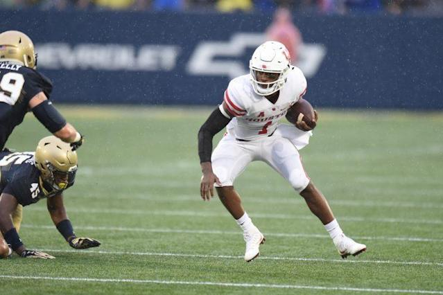 Losing a game against Navy likely drops Greg Ward Jr. and the Cougars out of playoff contention. (Getty)