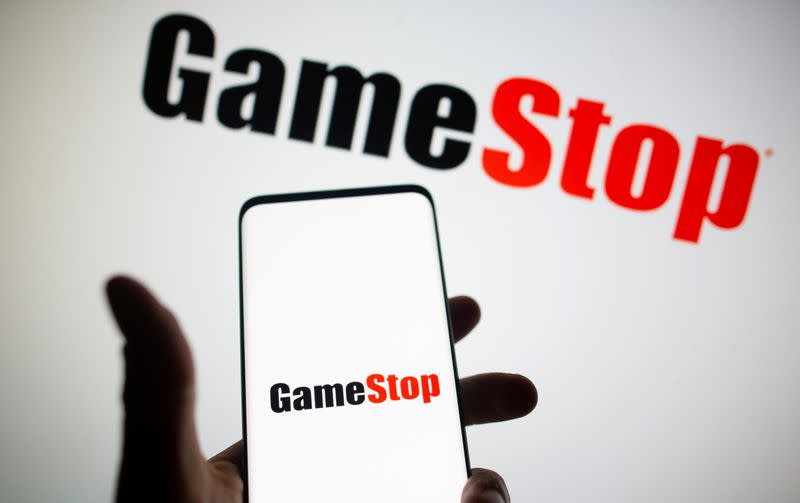FILE PHOTO: GameStop logo is seen in this illustration