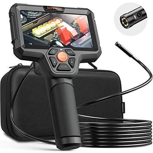 """DEPSTECH Dual Lens Inspection Camera, Endoscope with 5"""" IPS LCD Screen, 7.9 mm HD Borescope, Se…"""