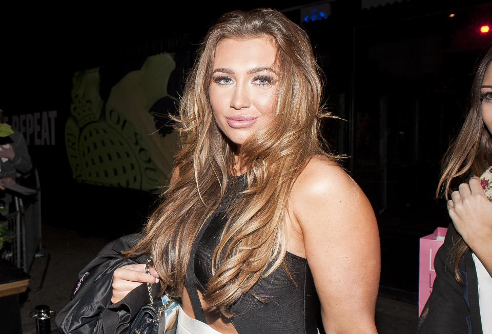 LONDON, UNITED KINGDOM - OCTOBER 21: Lauren Goodger is sighted leaving the Minestry of Sound, Elephant and Castle     on October 21, 2013 in London, England. (Photo by Niki Nikolova/FilmMagic)
