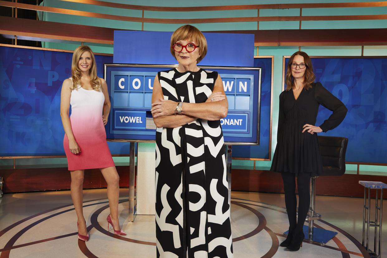 EMBARGOED UNTIL 15TH JUNE 2021..Rachel Riley, Anne Robinson and Susie Dent.