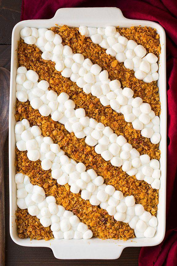 """<p>Bursting with buttery flavor and topped with crispy cornflakes, this sweet potato recipe is sure to win everyone over. </p><p><strong>Get the recipe at <a href=""""http://www.cookingclassy.com/browned-butter-sweet-potato-casserole/"""" rel=""""nofollow noopener"""" target=""""_blank"""" data-ylk=""""slk:The Cooking Classy"""" class=""""link rapid-noclick-resp"""">The Cooking Classy</a>. </strong></p><p> <a class=""""link rapid-noclick-resp"""" href=""""https://www.amazon.com/dp/B07MHPF2Z5?tag=syn-yahoo-20&ascsubtag=%5Bartid%7C10050.g.3726%5Bsrc%7Cyahoo-us"""" rel=""""nofollow noopener"""" target=""""_blank"""" data-ylk=""""slk:SHOP POTATO MASHERS"""">SHOP POTATO MASHERS</a></p>"""