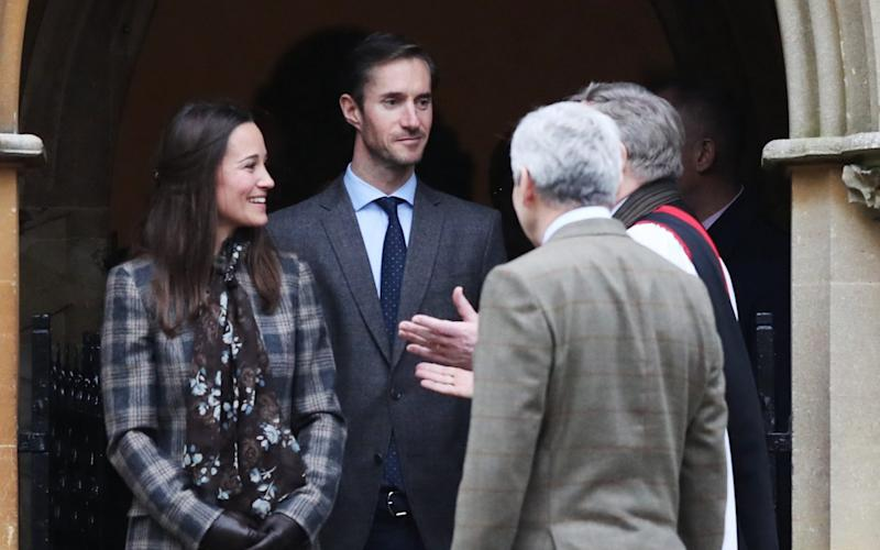 Pippa Middleton leaves St Mark's Church following the Christmas Day service last year  - Getty Images Europe