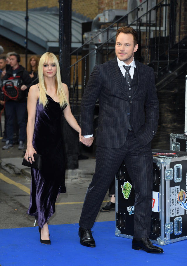 "<p>The Hollywood couple stunned many when they announced in August that they were separating after eight years of marriage. ""We tried hard for a long time, and we're really disappointed,"" <a href=""https://www.yahoo.com/entertainment/chris-pratt-anna-faris-split-warning-signs-195707256.html"" data-ylk=""slk:Faris and Pratt said in a statement;outcm:mb_qualified_link;_E:mb_qualified_link"" class=""link rapid-noclick-resp newsroom-embed-article"">Faris and Pratt said in a statement</a>. ""We still love each other and will always cherish our time together."" They share a son, 5-year-old Jack. Busy schedules and fame were rumored to be why the comedic pair called it quits. Pratt made things official, <a href=""https://www.yahoo.com/entertainment/anna-faris-boyfriend-michael-barrett-201506149.html"" data-ylk=""slk:filing for divorce;outcm:mb_qualified_link;_E:mb_qualified_link"" class=""link rapid-noclick-resp newsroom-embed-article"">filing for divorce</a> in November, citing irreconcilable differences. Faris has already moved on and is <a href=""https://www.yahoo.com/entertainment/anna-faris-boyfriend-michael-barrett-201506149.html"" data-ylk=""slk:dating;outcm:mb_qualified_link;_E:mb_qualified_link"" class=""link rapid-noclick-resp newsroom-embed-article"">dating</a> cinematographer Michael Barrett. (Photo: Getty Images) </p>"